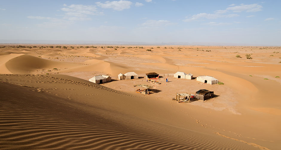 Private Desert Camp Morocco - aerial view